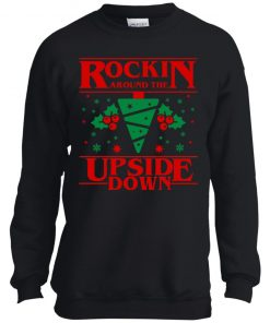 Christmas Stranger Things Updside Down Youth Pullover Sweatshirt