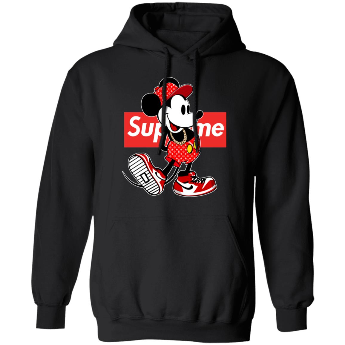 Supreme x Mickey Mouse Unisex Pullover Hoodie