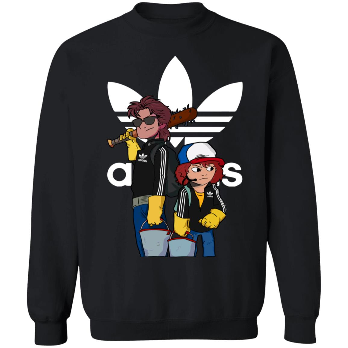 Adidas Stranger Things Steve And Dustin Limited Edition Unisex Pullover Sweatshirt
