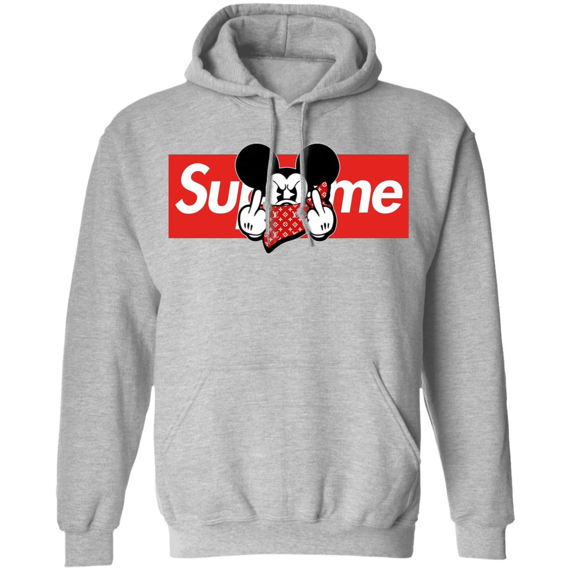 Mickey Mouse Middle Finger Supreme Unisex Pullover Hoodie