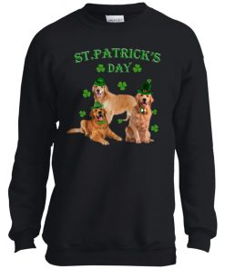 St Patricks Day My Golden Retriever Is My Lucky Charm Youth Pullover Sweatshirt